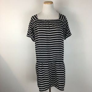 J.Crew Women's Drop Waist Striped Silk Dress